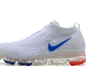 Nike air max vapormax white 2020 red blue laceless